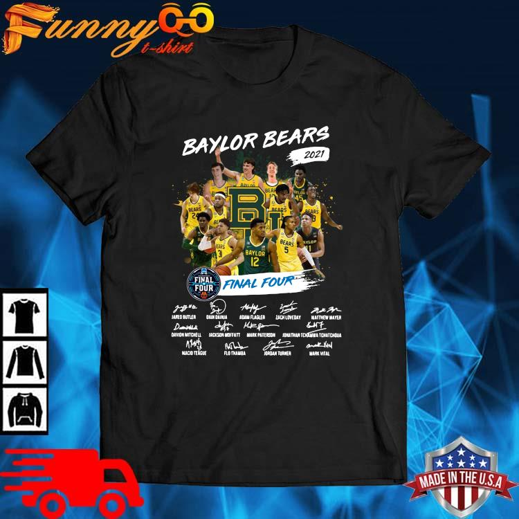 Baylor Bears 2021 Final Four Signatures Shirt
