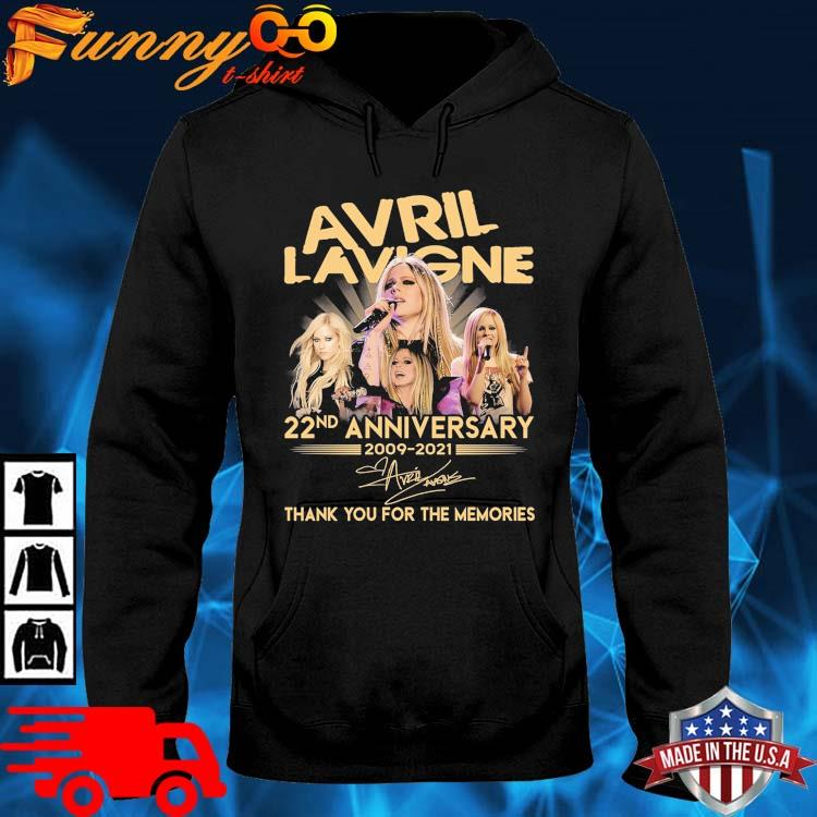 Avril Lavigne 22nd Anniversary 2009-2021 Thank You For The Memories Signature Shirt hoodie den