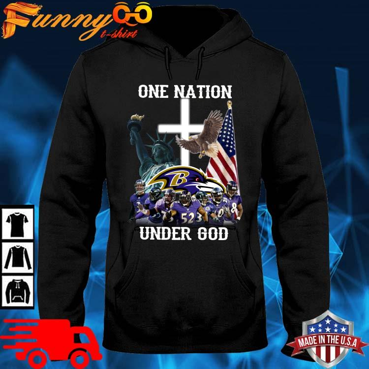 Baltimore Ravens One Nation Under God Shirt hoodie den