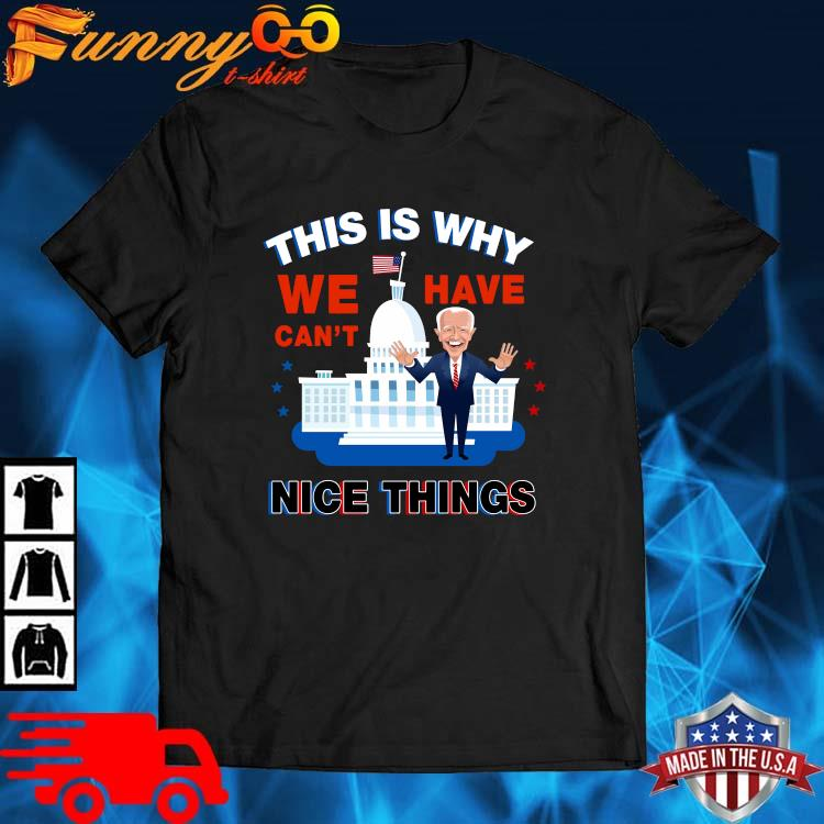 Joe Biden this is why we have can't nice things shirt