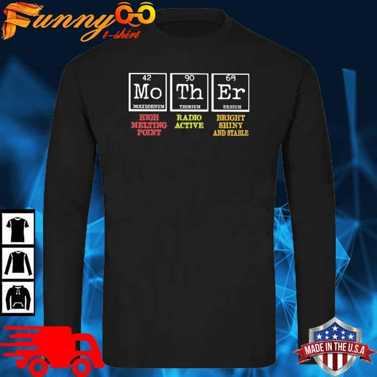 Mother High Melting Point Radio Active Bright Shiny And Stable Shirt long sleve den