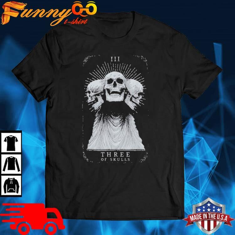 Showdown Anniversary Three of Skulls Black Shirt