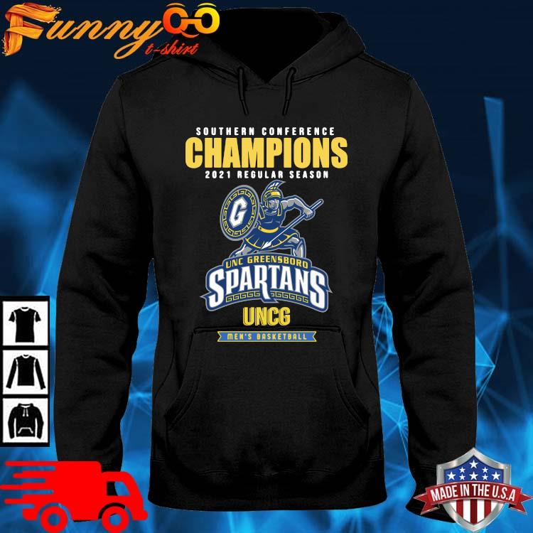 Southern Conference Champions 2021 Regular Season Unc Greensboro Spartans Uncg Men's Basketball Shirt hoodie den